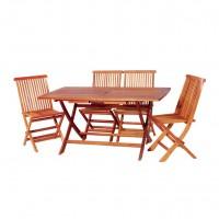 Bộ bàn ghế gỗ ngoài trời bp019