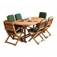 Bàn ghế gỗ sân vườn