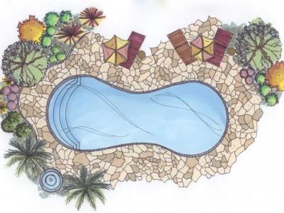 Hình dạng hồ bơi