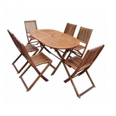 Bộ bàn ghế gỗ sân vườn