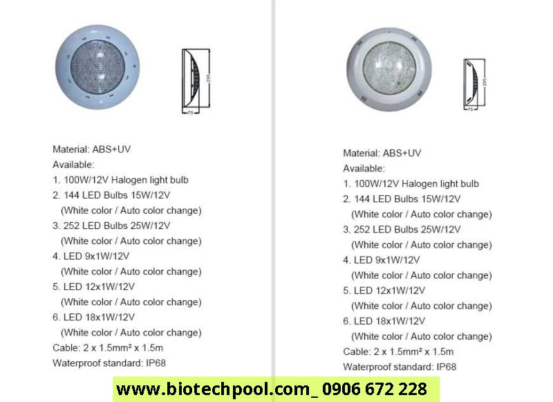 đèn hồ bơi nhập khẩu chính hãng giá sỉ