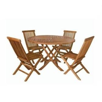 Bàn ghế gỗ ngoài trời