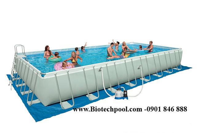 HỒ BƠI KHUNG KIM LOẠI, ho boi phao, be boi phao, hồ bơi nổi, bể bơi nổi, báo giá bể bơi phao