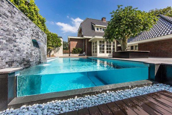 HỒ BƠI KÍNH, hồ bơi kính cường lực, pool glass, bể bơi bằng kính, thành bể bơi bằng kính, thành hồ bơi bằng kính