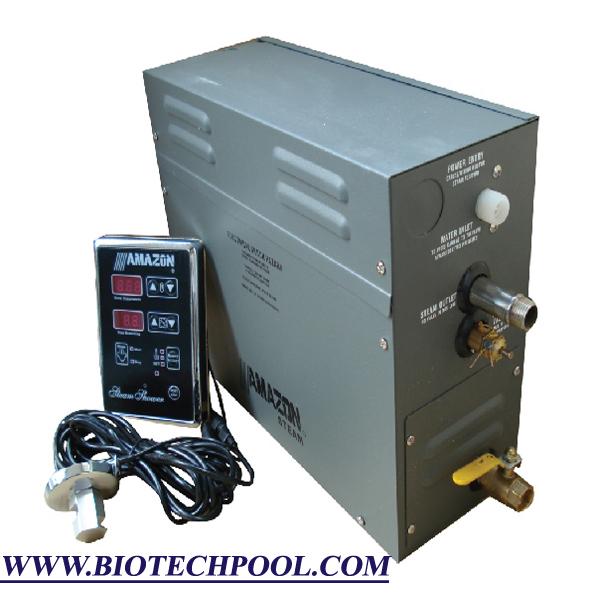 AMAZON 8KW, thiết bị hồ bơi, thiết bị spa, máy xông hơi, xây dựng spa, máy mát xa, máy massage
