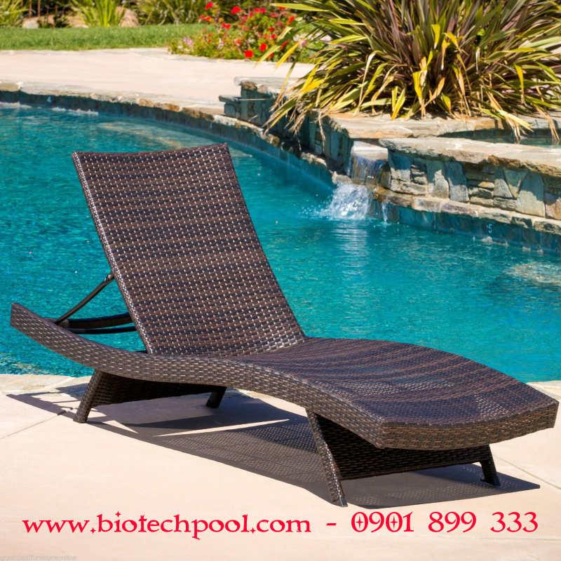 GHẾ NẰM HỒ BƠI GIẢ MÂY, máy lọc hồ bơi, thiết kế hồ bơi, thi công hồ bơi, bán bàn ghế hồ bơi ngoài trời, bán bàn ghế gỗ ngoài trời