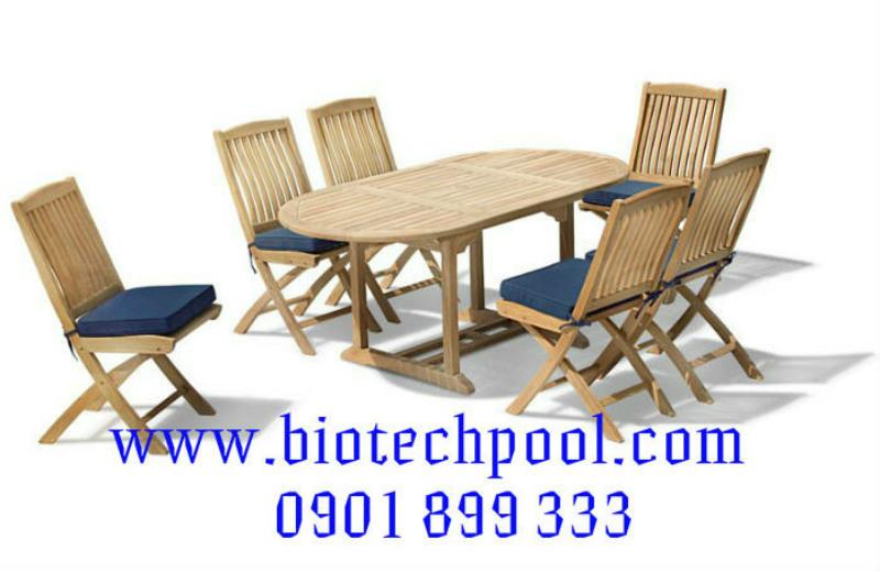 BỘ BÀN GHẾ GỖ NGOÀI TRỜI BP019, máy lọc hồ bơi, thiết kế hồ bơi, thi công hồ bơi, bán bàn ghế hồ bơi ngoài trời, bán bàn ghế gỗ sân vườn