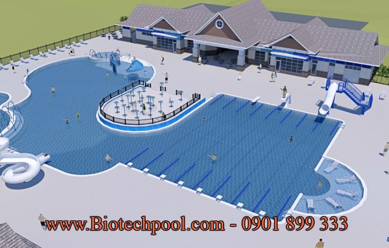 Mẫu thiết kế hồ bơi kinh doanh