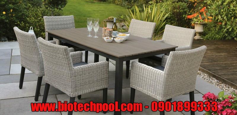 NHỮNG MẪU BÀN GHẾ ĐẸP CHO HỒ BƠI GIA ĐÌNH, bàn ghế mây, bàn ghế gỗ ,thiết bị hồ bơi, thiết bị xông hơi