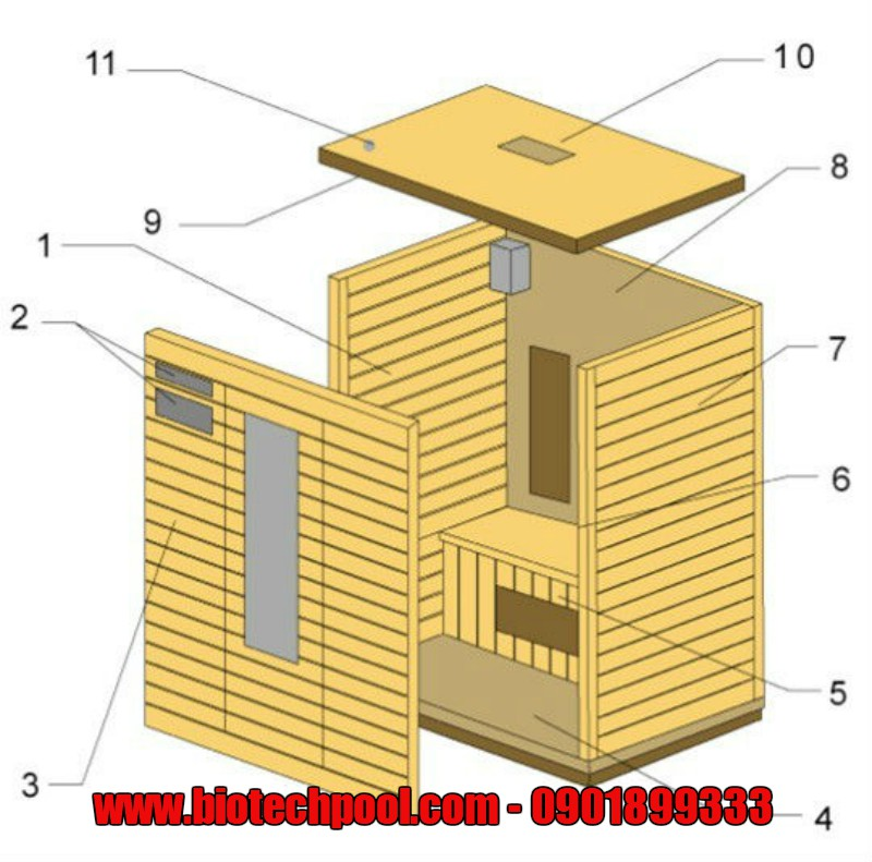sauna room structure