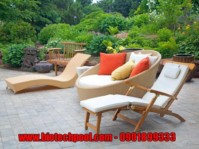 bàn ghế gỗ , bàn ghế nhựa giả mây, bàn ghế đẹp ngoài trời, ngoại thất sân vườn, ngoại thất hồ bơi