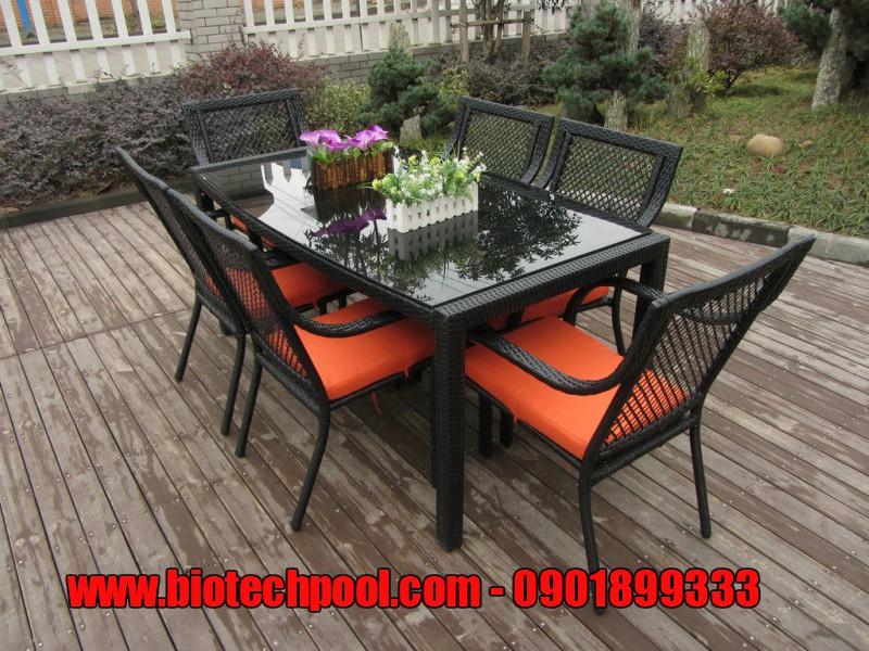 bàn ghế nhựa mây ngoài trời, bàn ghế gỗ ngoài trời, ngoại thất hồ bơi, phụ kiện hồ bơi, thiết bị hồ bơi
