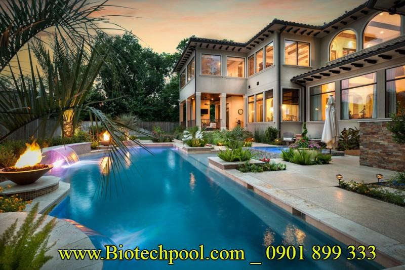 Tiêu chuẩn thiết kế hồ bơi gia đình, Hồ bơi gia đình đẹp, những công trình hồ bơi gia đình, chi phí thi công hồ bơi gia đình , những mẫu thiết kế hồ bơi đẹp