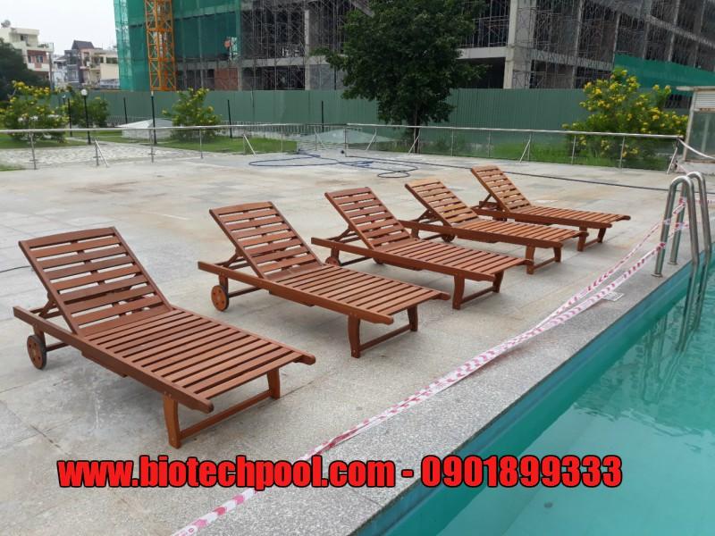 GHẾ NẰM HỒ BƠI CHẤT LƯỢNG, ĐẸP TỪNG CHI TIẾT, ghế nằm ngoài trời, bàn ghế nhôm đúc, ghế gỗ dầu hồ bơi, bàn ghế ngoài trời