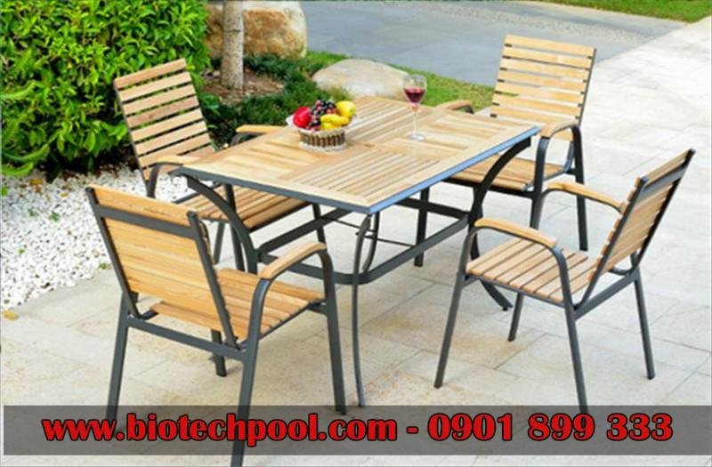 NHỮNG MẪU BÀN GHẾ NGOÀI TRỜI ĐẸP, ĐỘC ĐÁO, bàn ghế gỗ, bàn ghế nhựa giả mây, bàn ghế nhôm đúc, ngoại thất hồ bơi