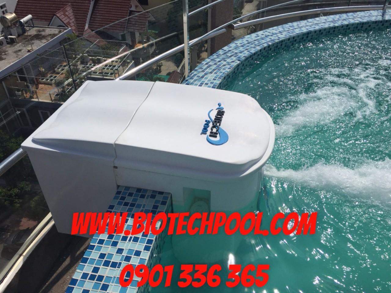 Máy gác thành hồ tiện ích, máy lọc gác thành hồ thông minh Biotechpool, máy lọc gác thành,máy lọc hồ bơi thông minh